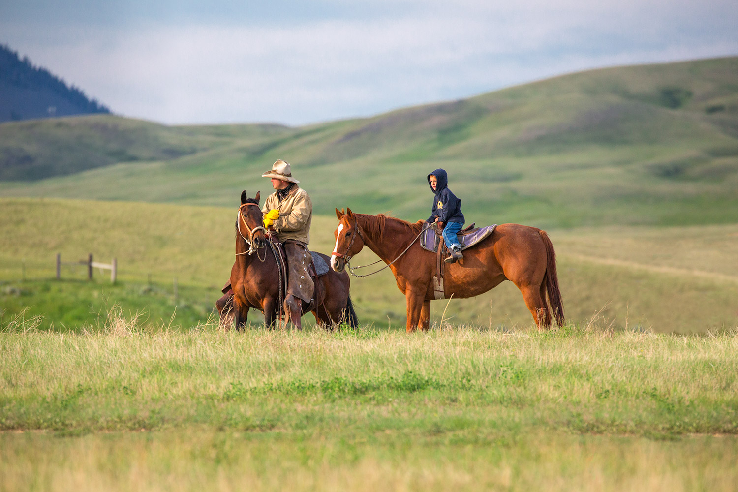 Father and Son Horseback