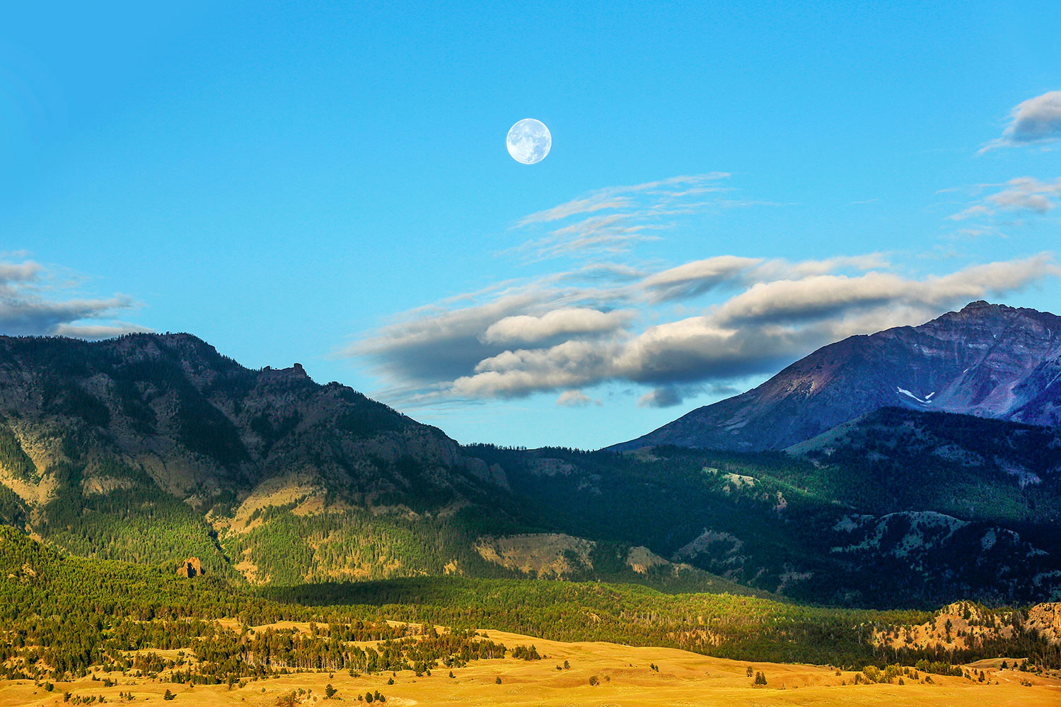 Moon Over Electric Mountain