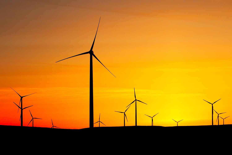 Wind Turbines Silhouette