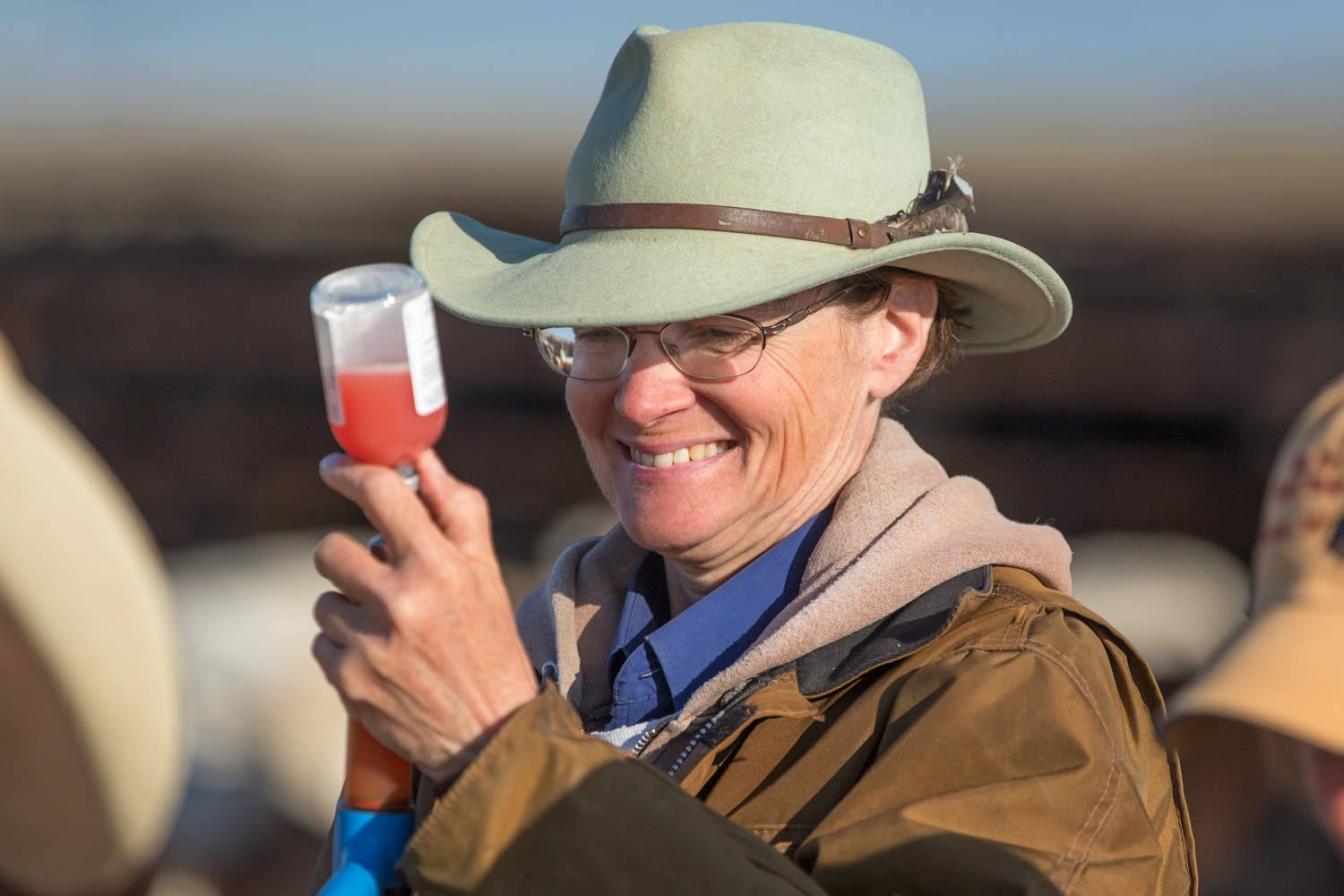 Cowgirl Vaccinating