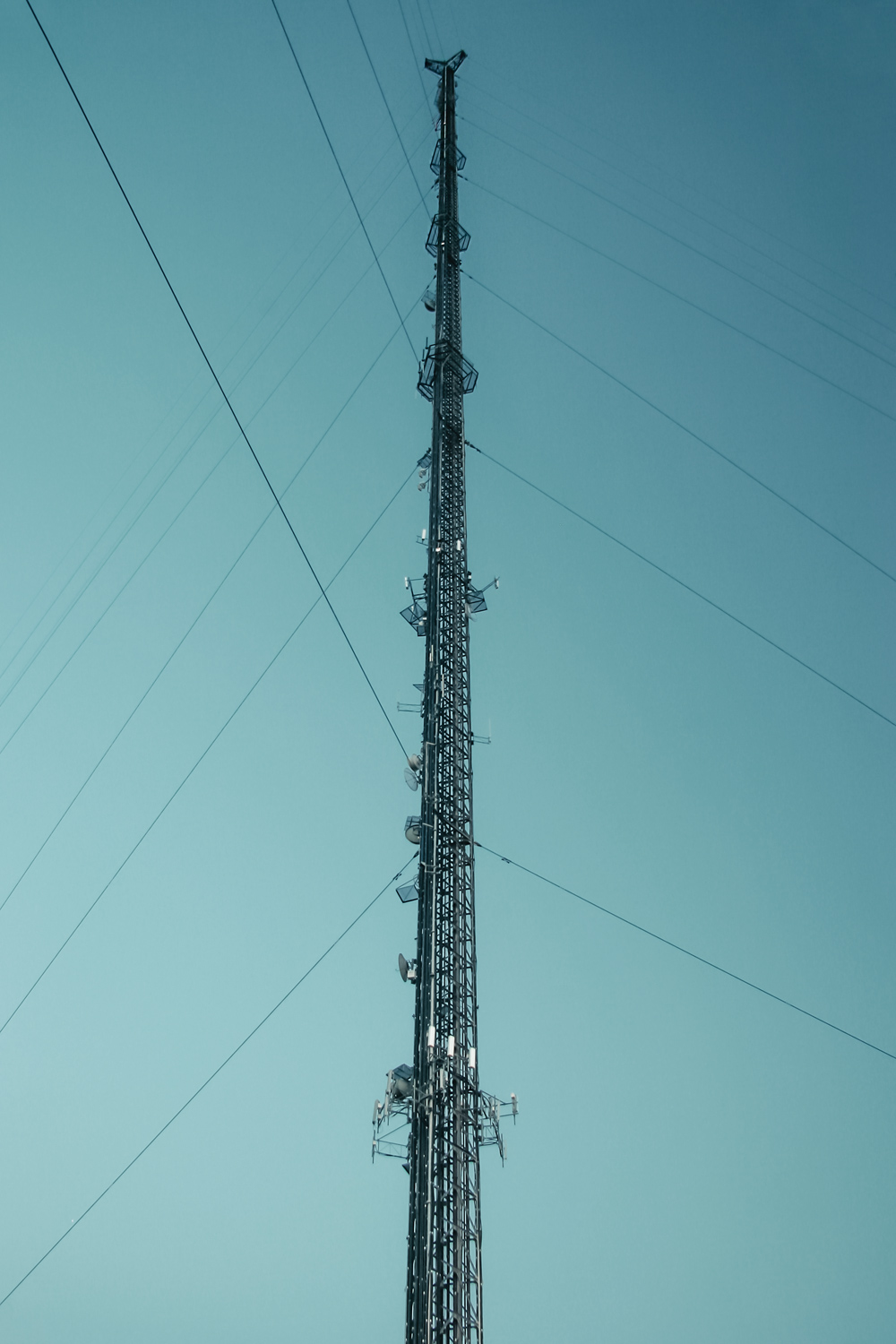 Broadcast Guyed Tower