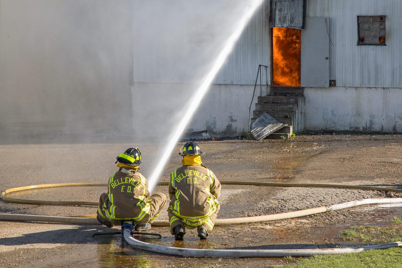 Fighting a Barn Fire