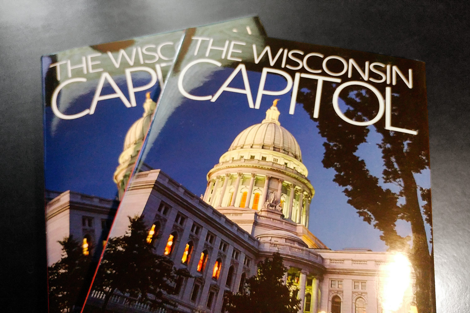 """My photo  of the Wisconsin state capitol is featured on the cover of the book """" The Wisconsin Capitol: Stories of a Monument and Its People """" published by the  Wisconsin Historical Society Press ."""