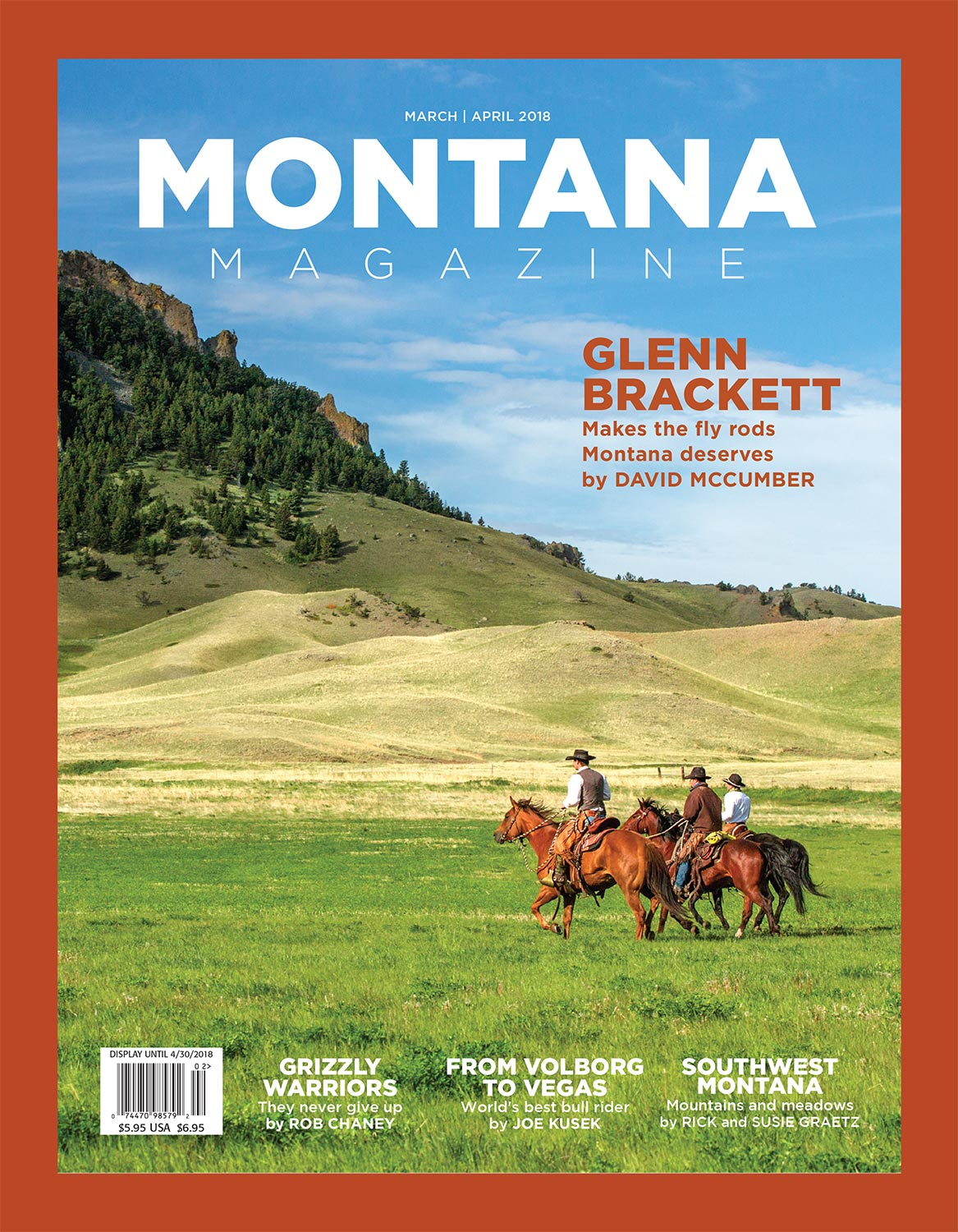 Cowboy Photos Appear in March 2018 Issue of Montana Magazine