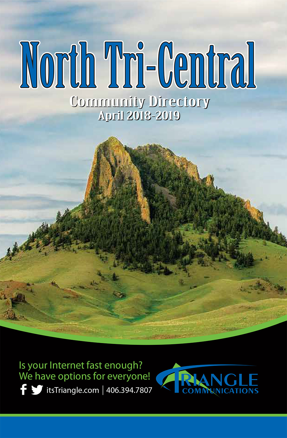 Montana Landscape Photography on Cover of Telephone Directory