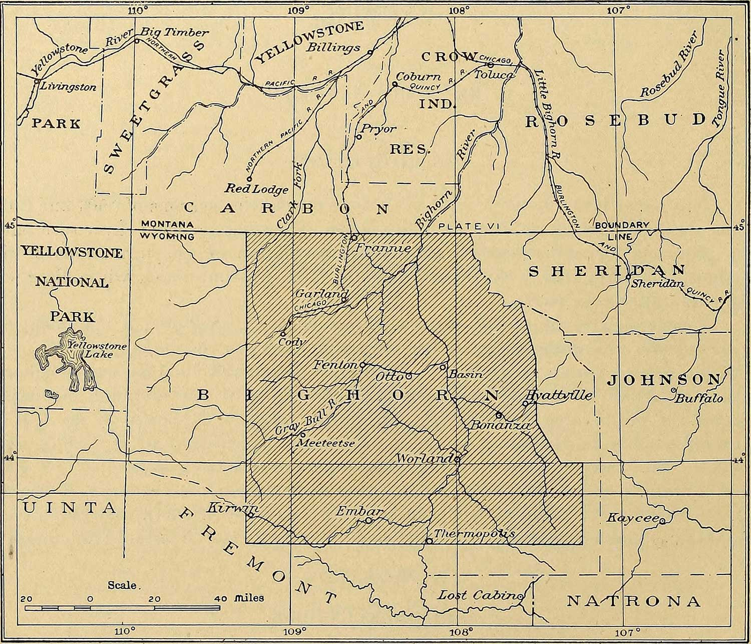 Old-Bighorn-Basin-Water-Resources-Mapin-Montana