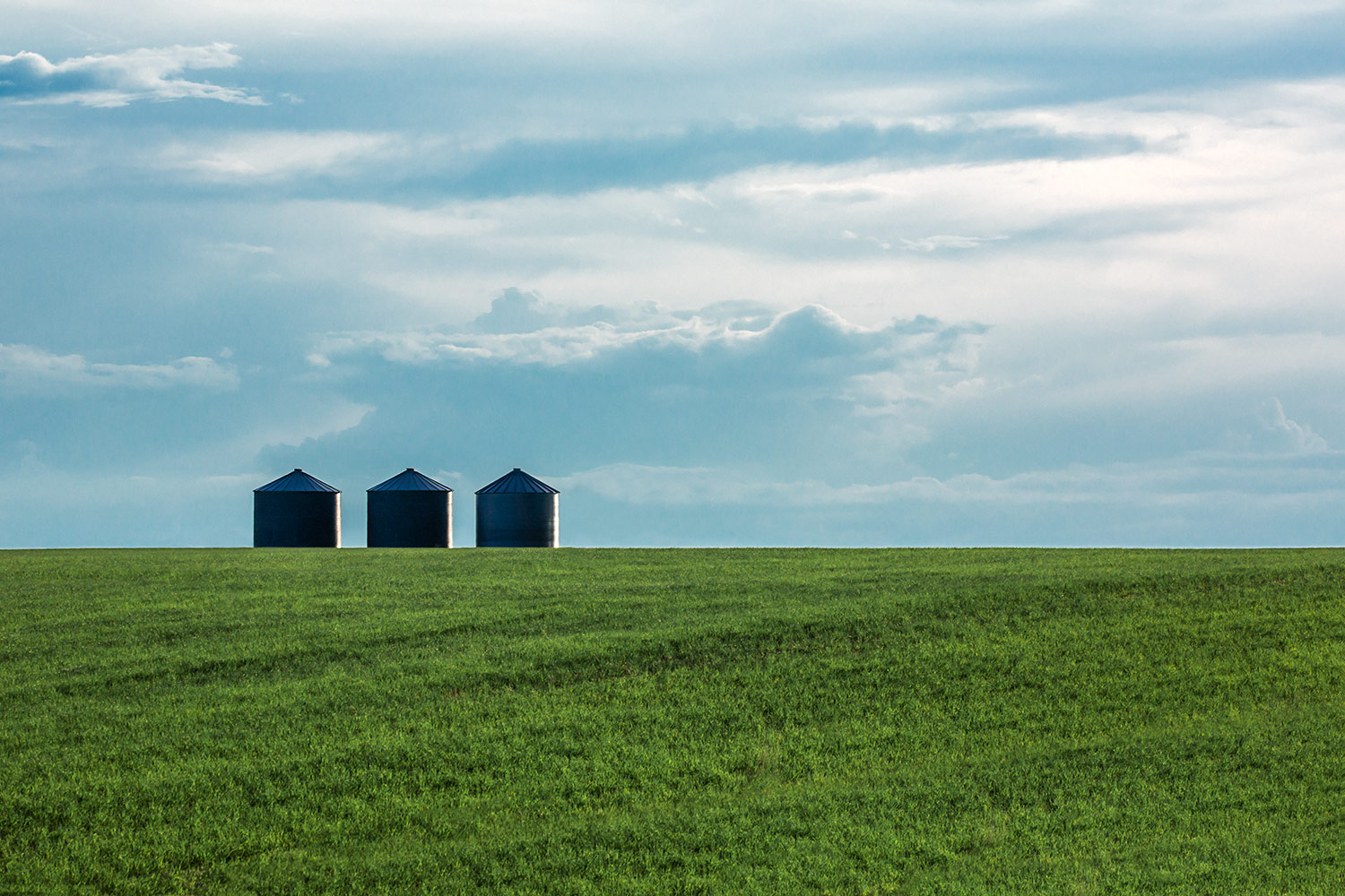 Three Grain Bins