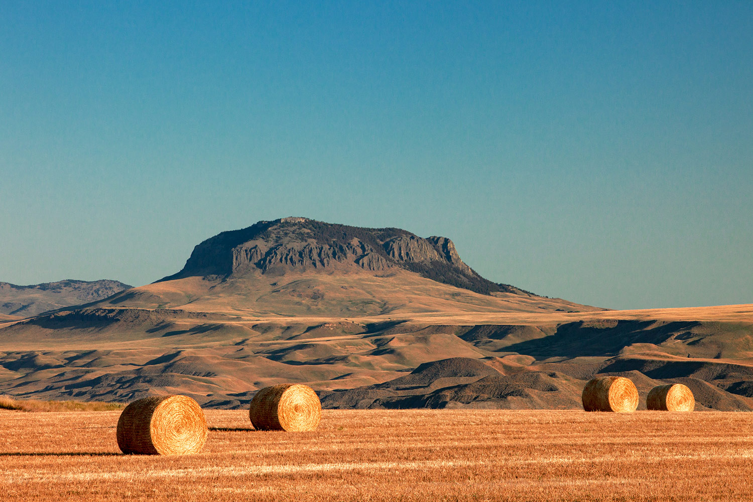 Round Bales and Butte