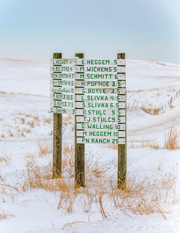 Montana Signpost