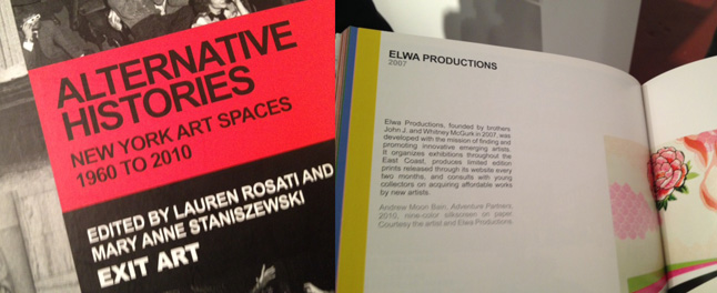 Cover of book and Elwa Productions page featuring the work of Andrew Moon Bain.