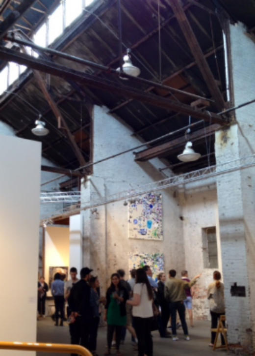 During Bushwick Open Studios, the NEWD Art Show took over this great industrial space.