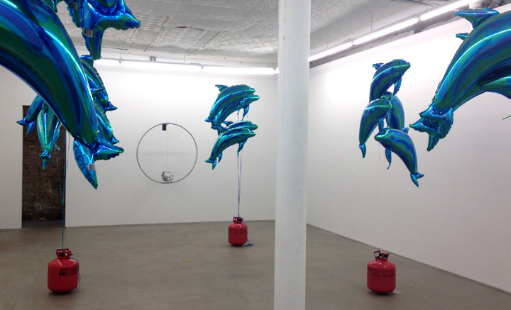 At Laurel Gitlen Gallery the juxtaposition of sound, objects, and color by artist Anissa Mack.