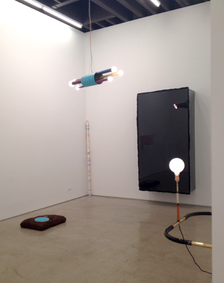 Andy Coolquitt in the back gallery at Lisa Cooley Gallery.