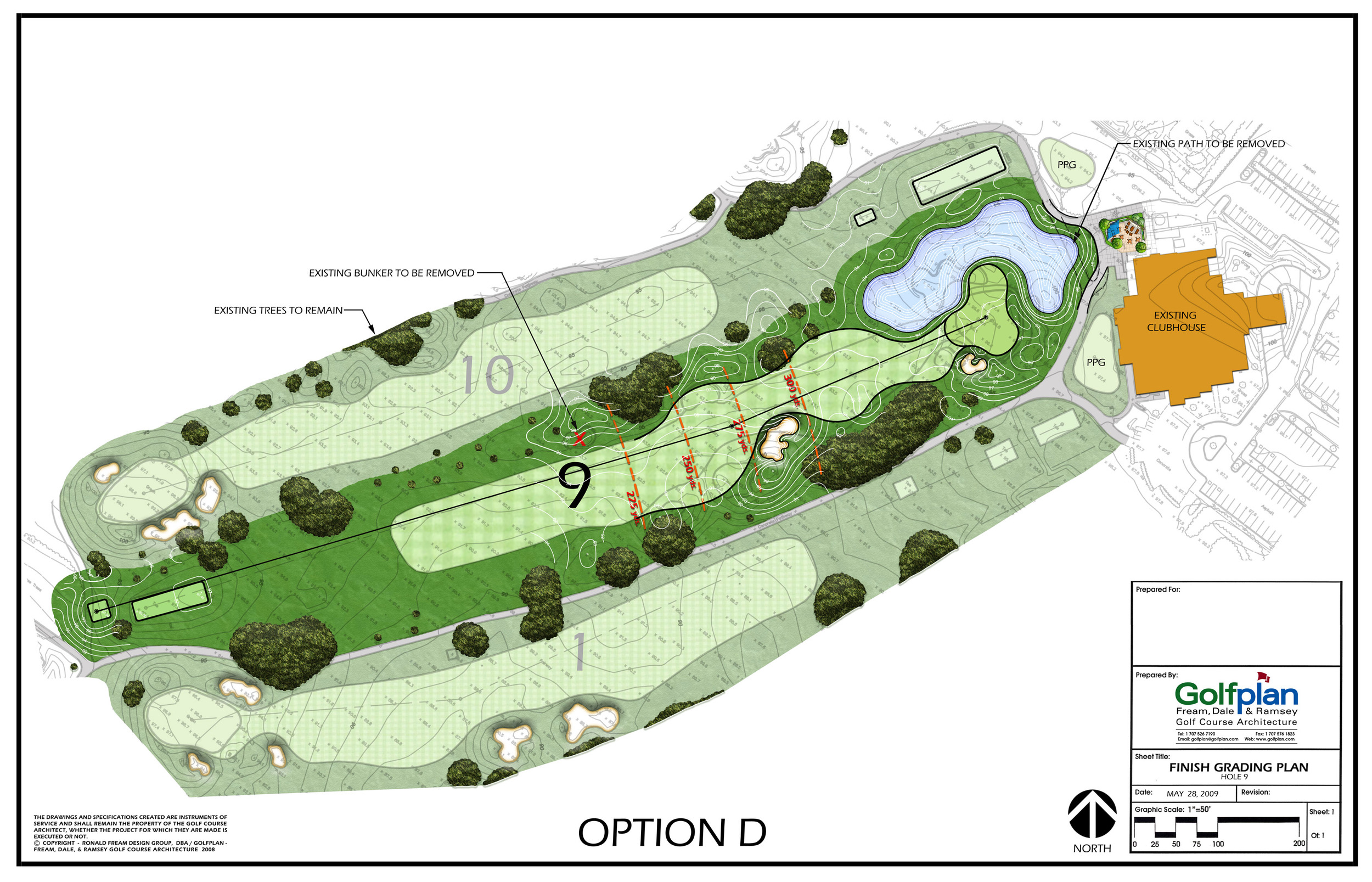 Golf Hole Remodeling Plan