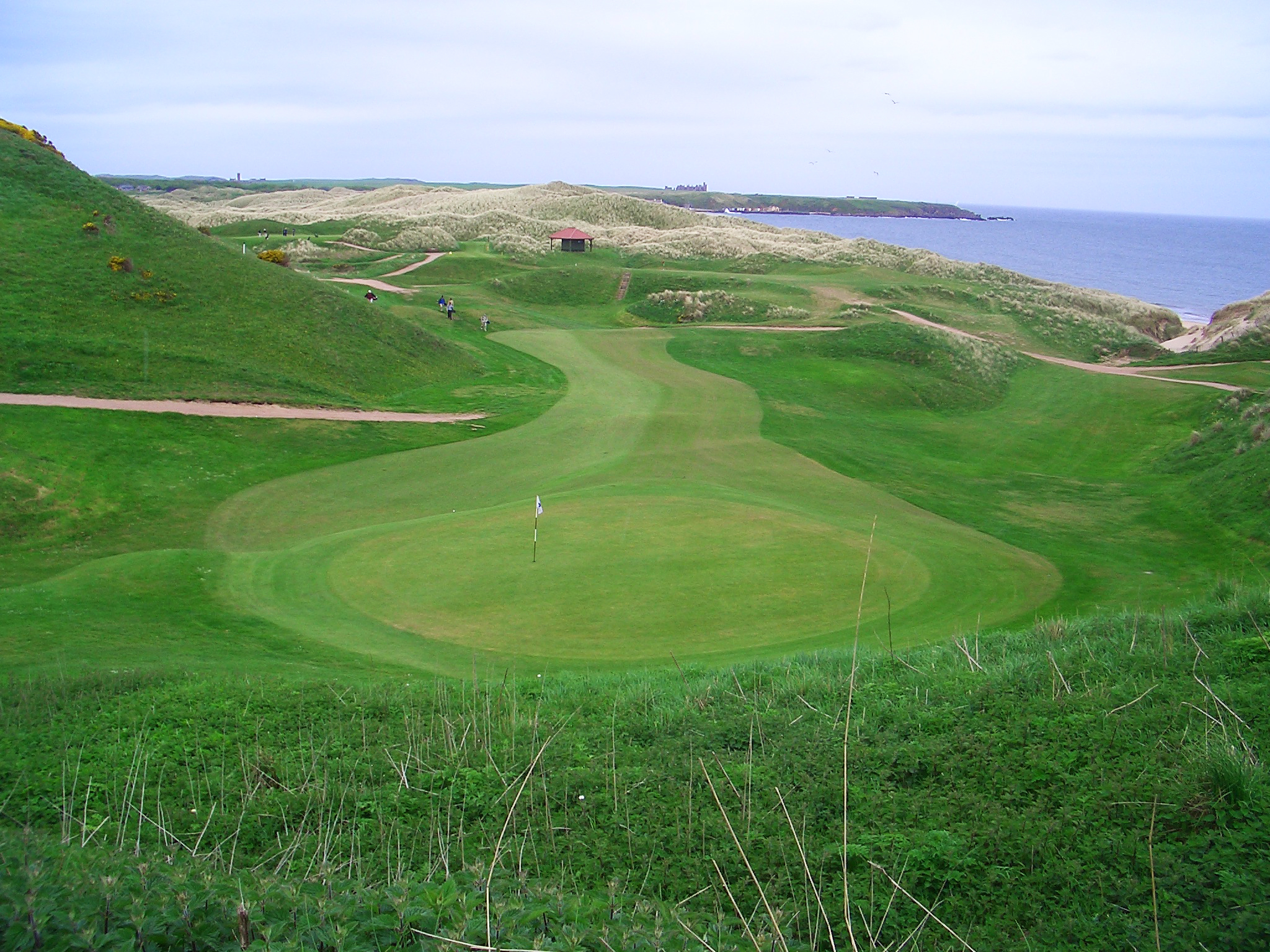 Cruden Bay  - semi-blind shots (used sparingly) make for very exciting golf holes
