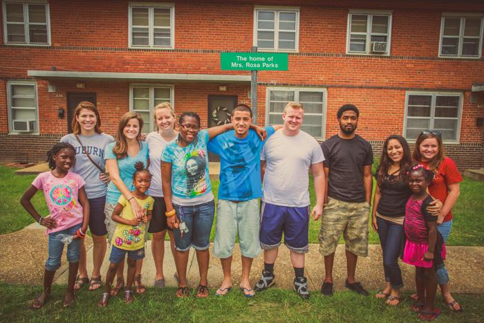 The 2012 SRM Team visits Rosa Parks' former home.