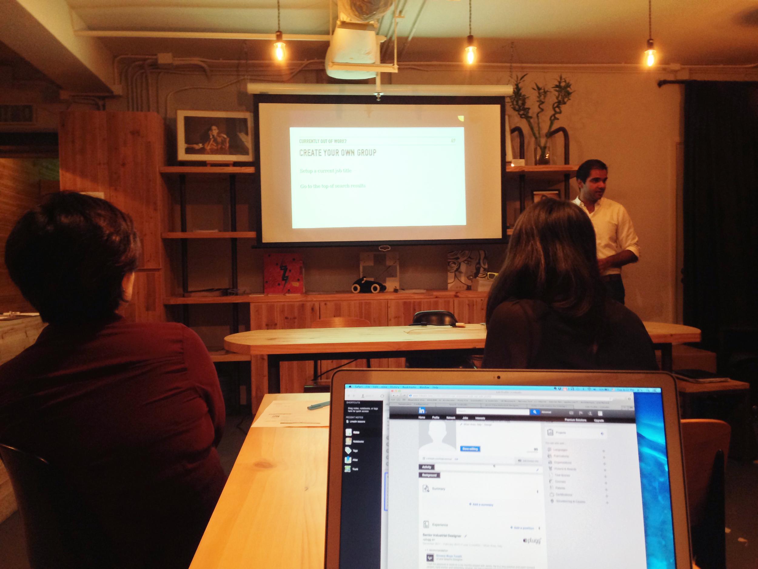 Linkedin Optimization Seminar at our headquarter