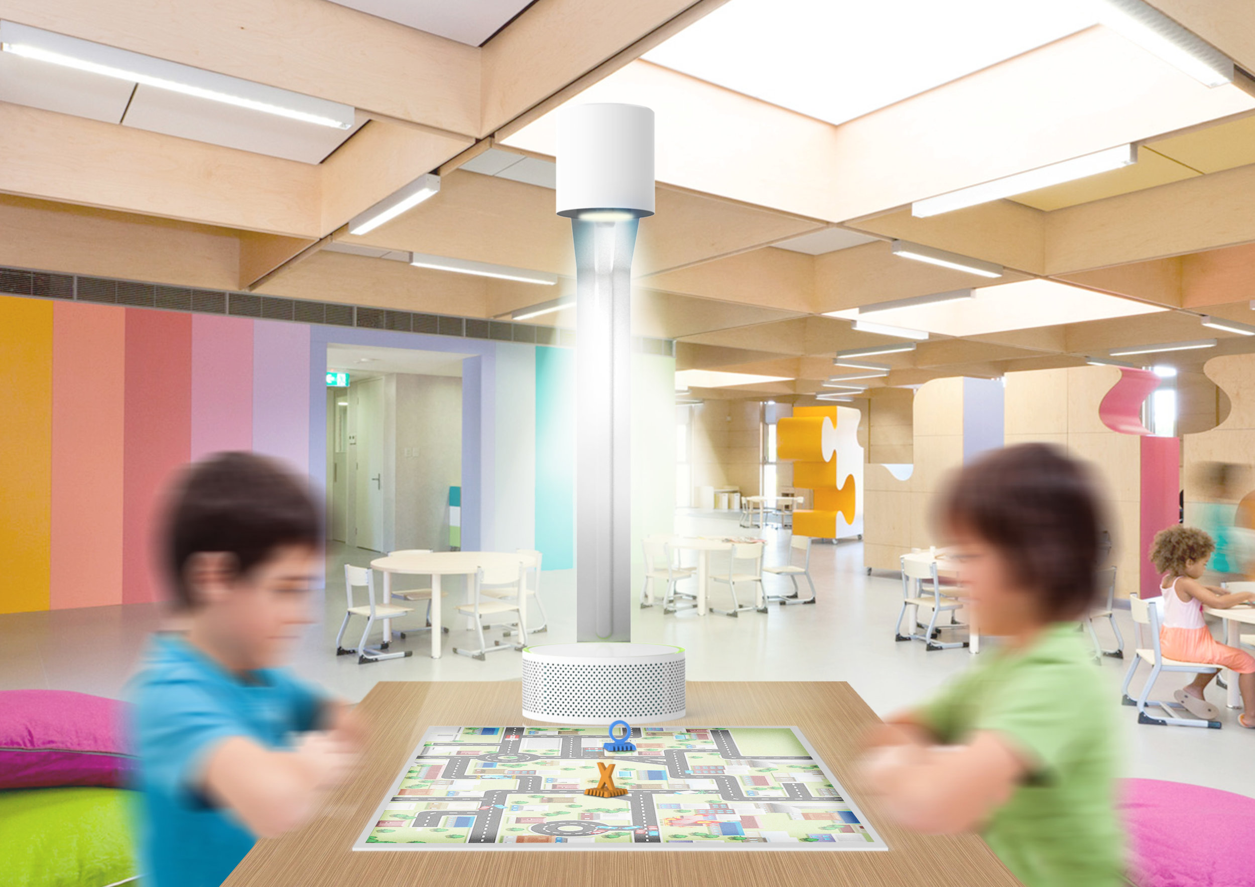 Luqo interactive projections for children's education. Industrial Design