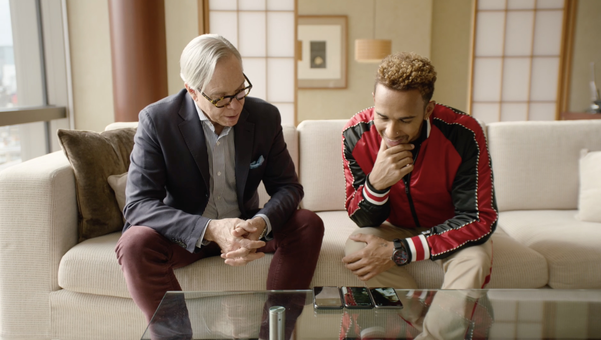 Tommy X Lewis - Tommy Hilfiger and Formula 1 legend Lewis Hamilton SideFlix-ing together for the first time backstage at the 2018 Fall Fashion Week show.