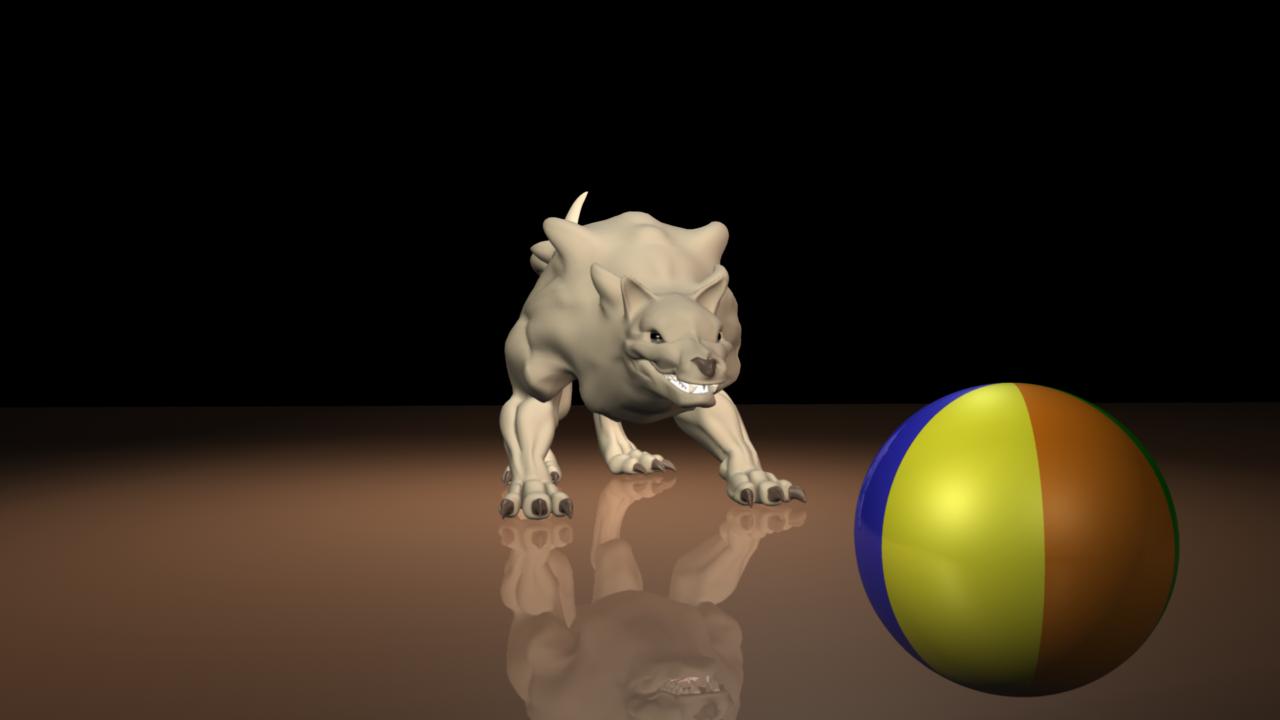 Wolf vs. Beach Ball