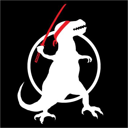 Dinosaur with a Katana