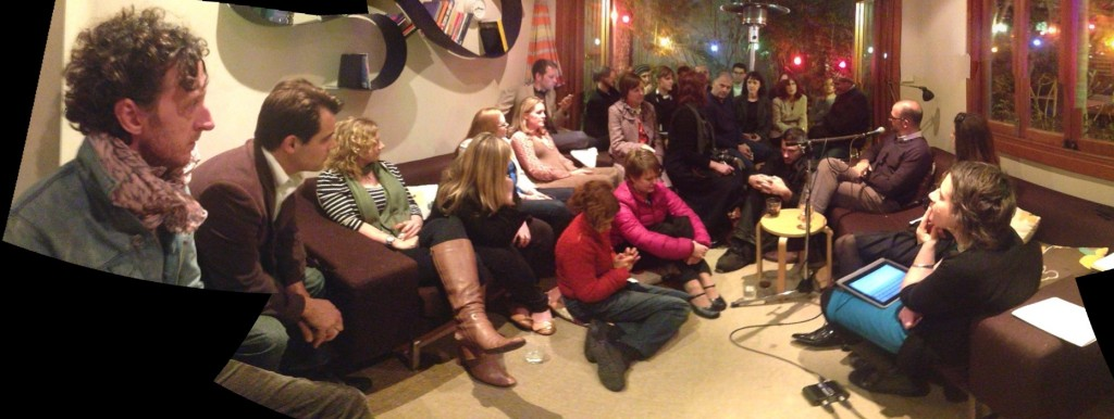 The crowd at Design Fridays 'Is sustainability the new dirty word?'  LISTEN