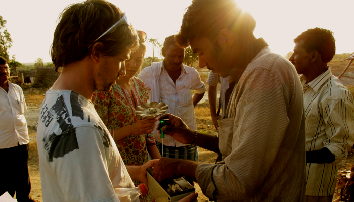Katerina Kimmorley of Pollinate Energy, who install solar lights in India's urban slums