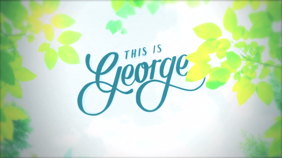 Hand written typography was commissioned for the 'This is George identity