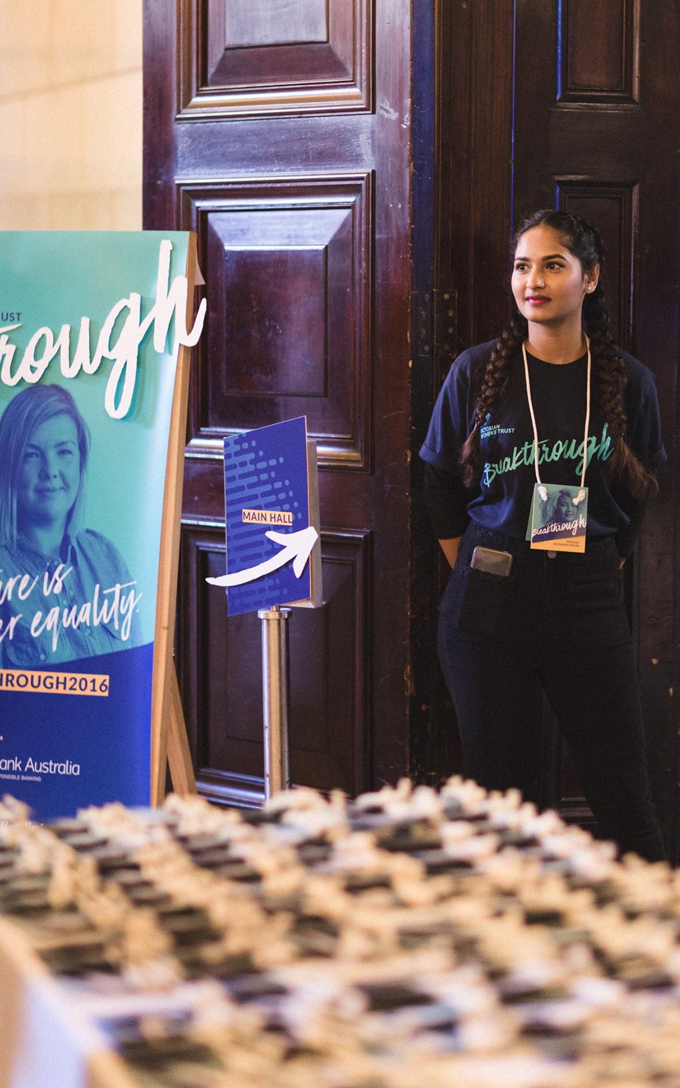 Volunteer at registration