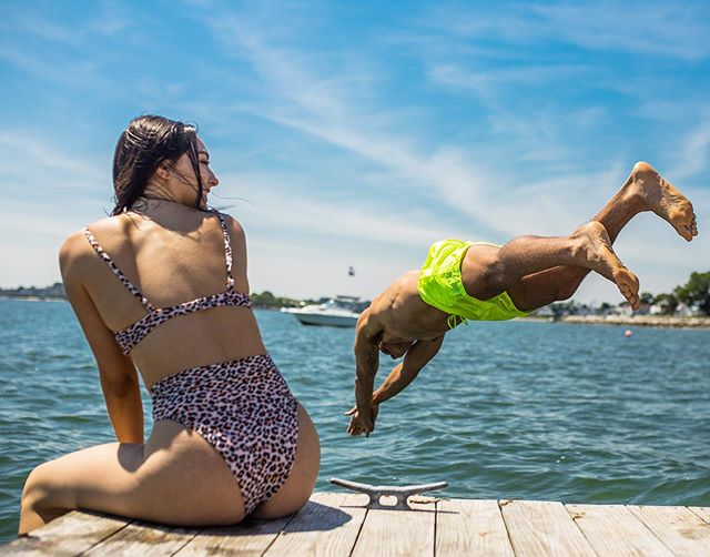 """Gathered on the dock To release our spirit """"Bon Voyage"""" To the boats that pass Leading into the sun We'd shade our eyes  Sharing smiles @jeff_oliveira4 @ayssavillarreal . . . . #summer #dock #smile #sun  #vacationmode #4thofjuly #lifestyle #beneaththewaves #newengland #capecod #adventure"""