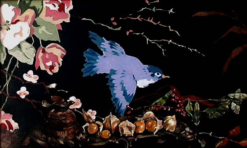 Birds berries inkwell.JPG