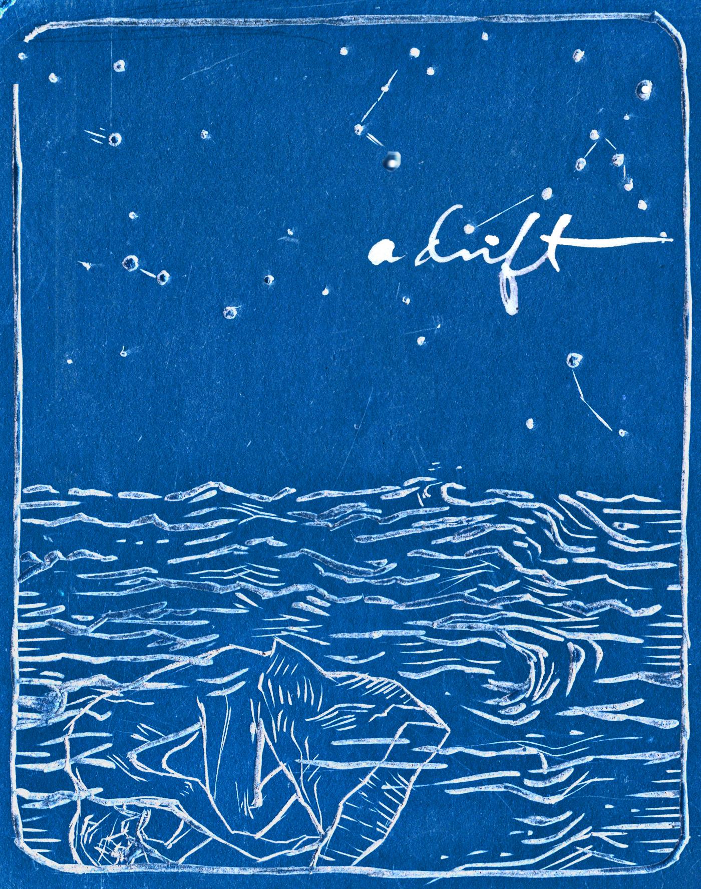 adrift, linocut, 8.2013