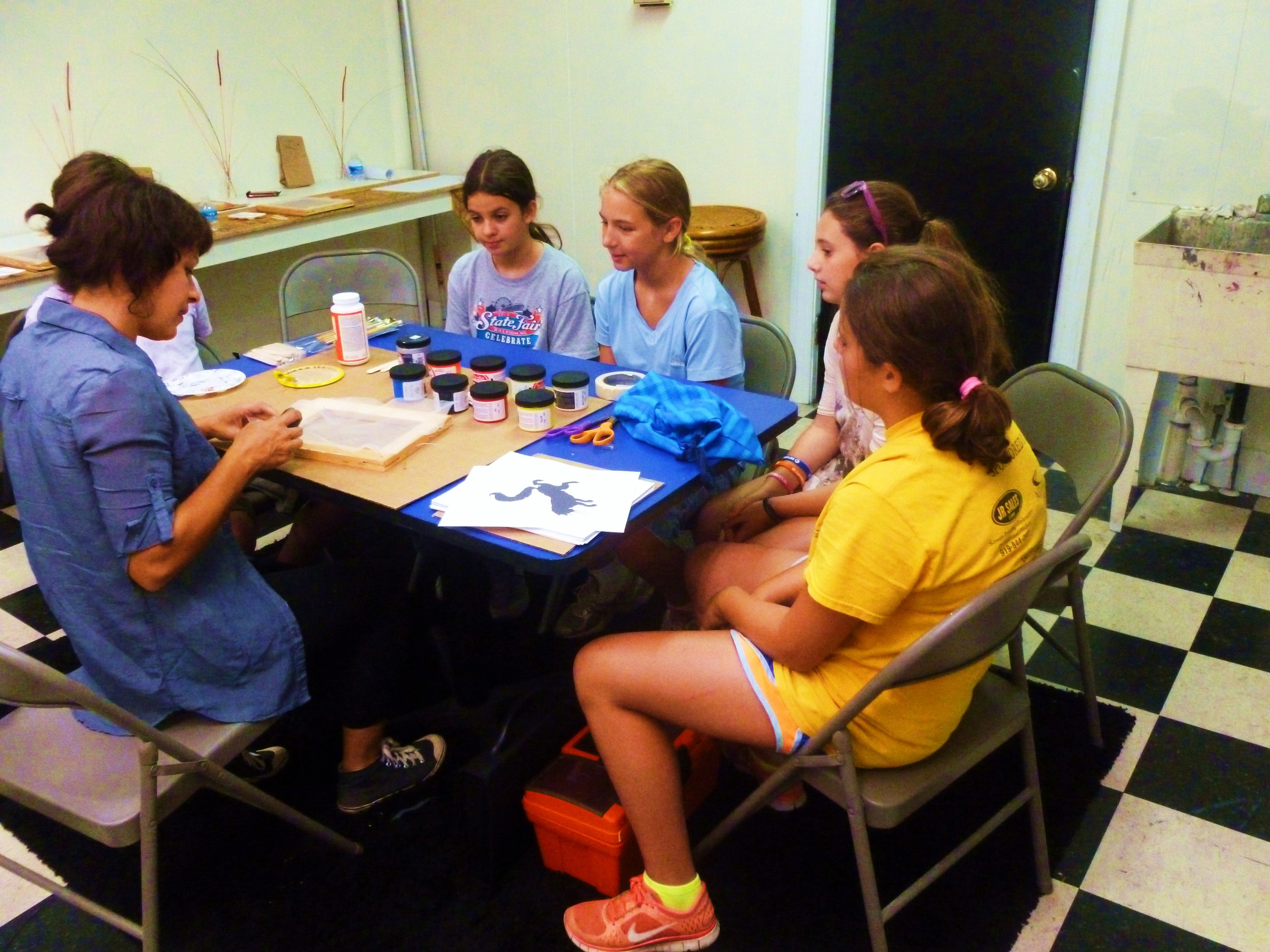 We had camps for Wearable Art, Mixed Media, Altered Books and Painting and Drawing.