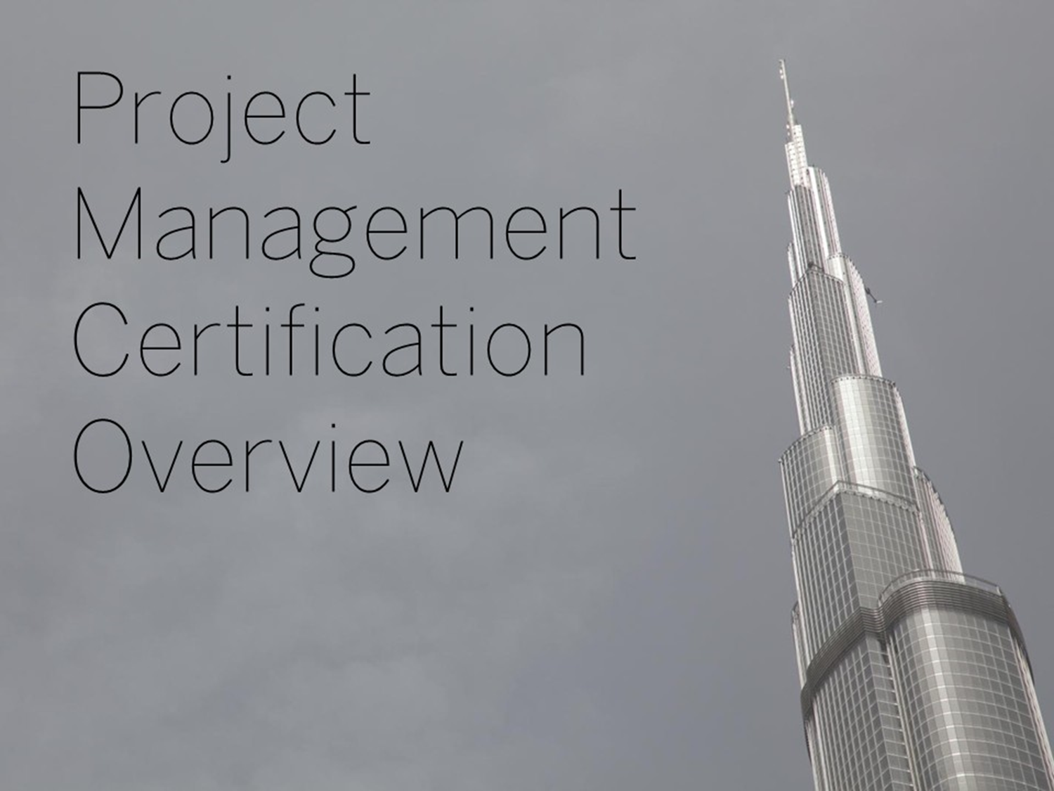 This deck provides an introduction to Project Management and how to get the PMP Certification.