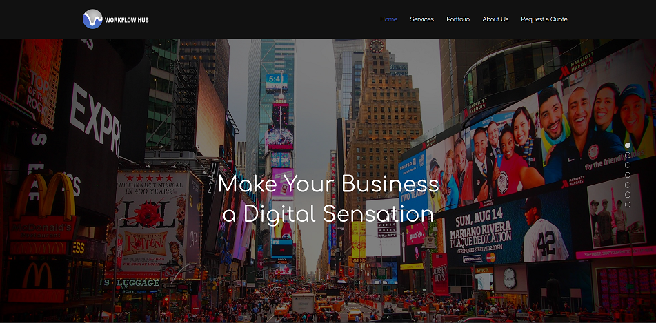 A website we designed for Digital Marketing Agency.   View full website