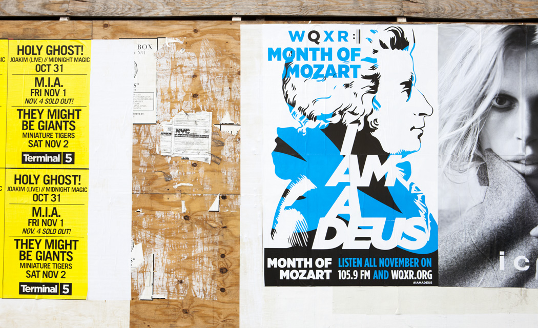 WQXR Month of Mozart wild posting