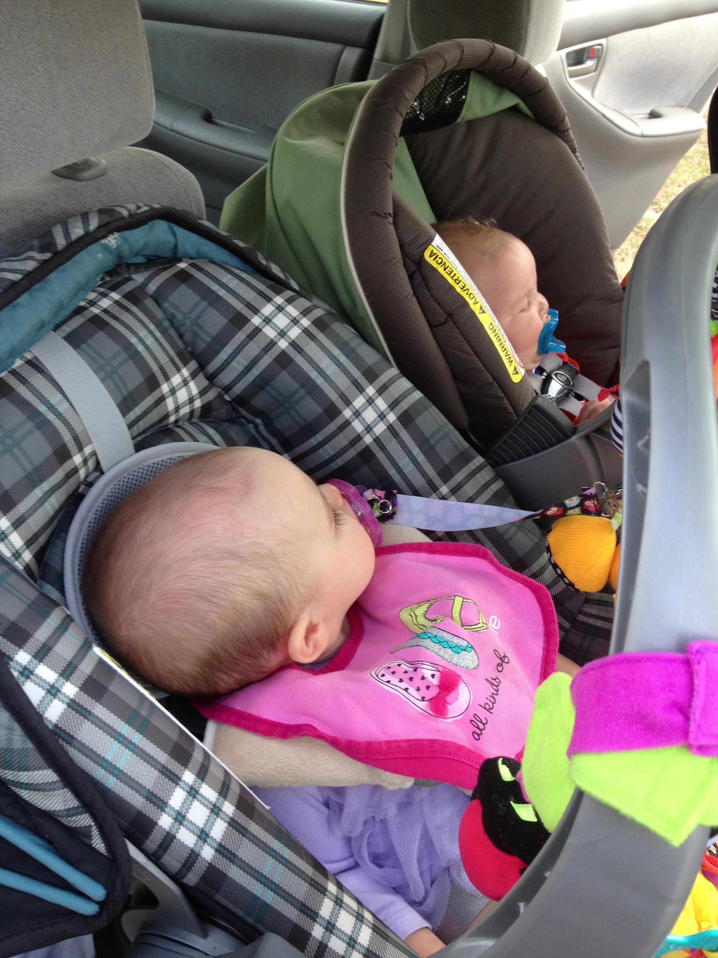 backseat full o' babies
