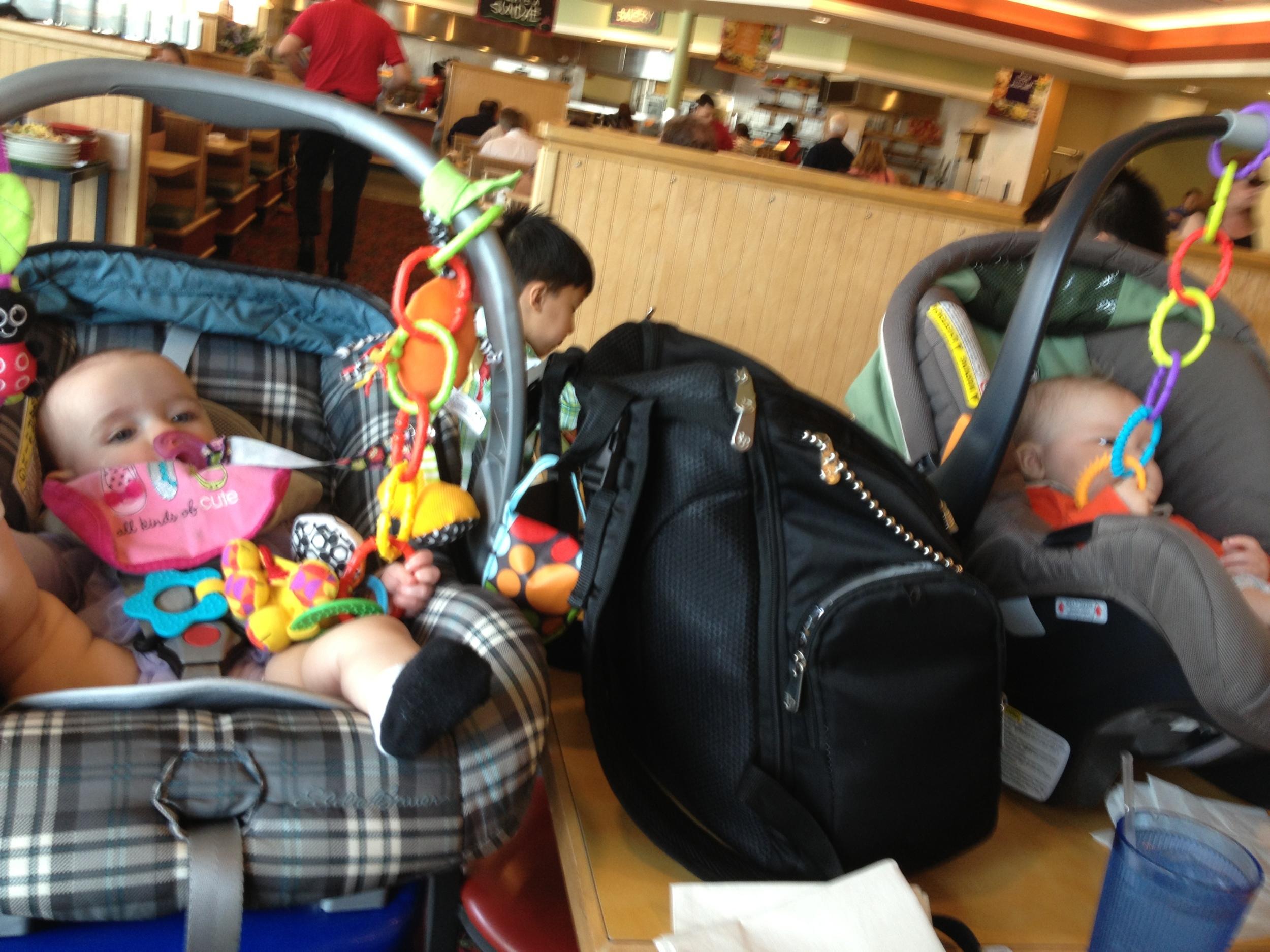 tiny buffet patrons