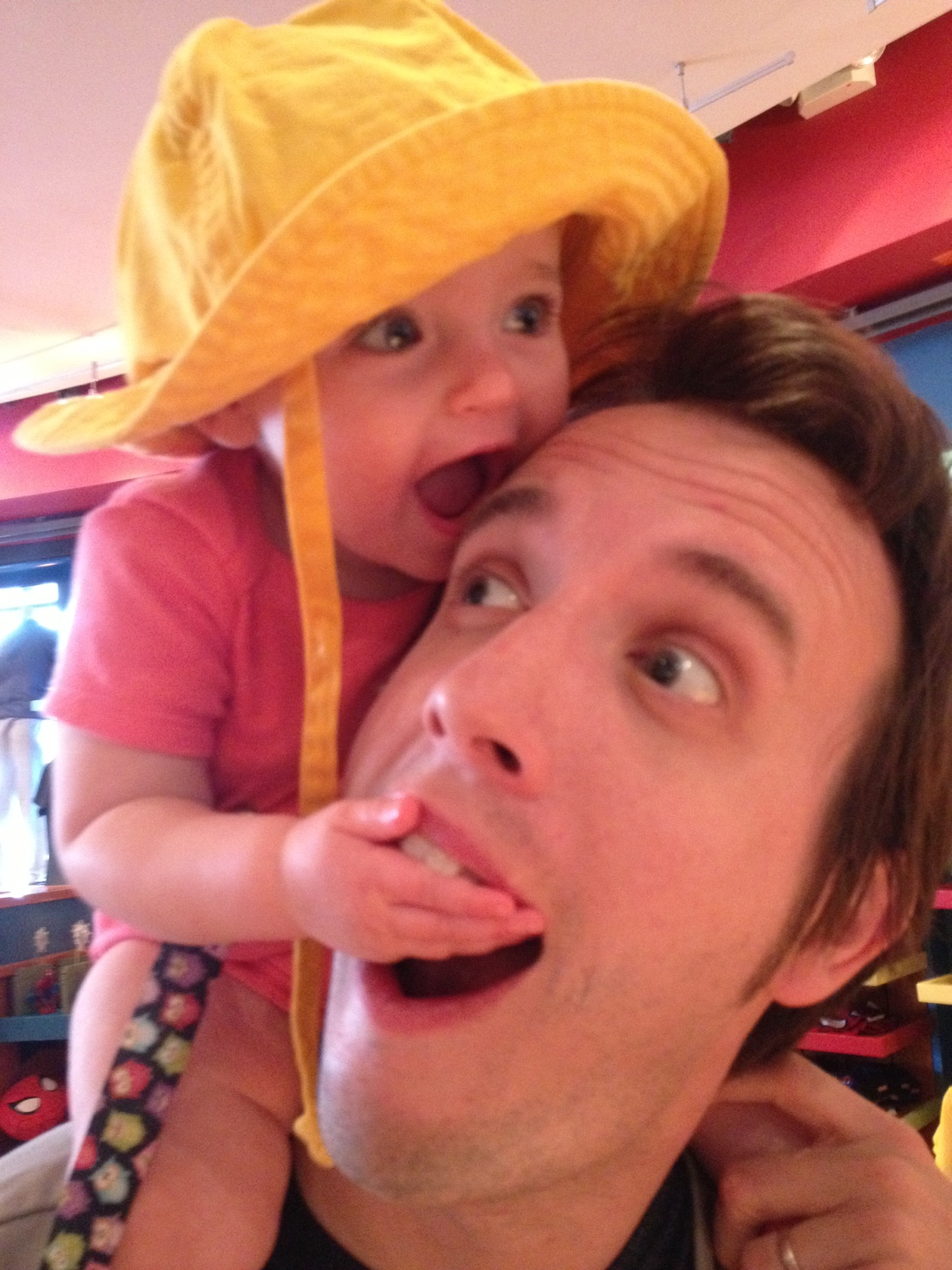 No, Daddy, don't eat me!