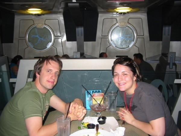Dining at Quark's Bar in Vegas