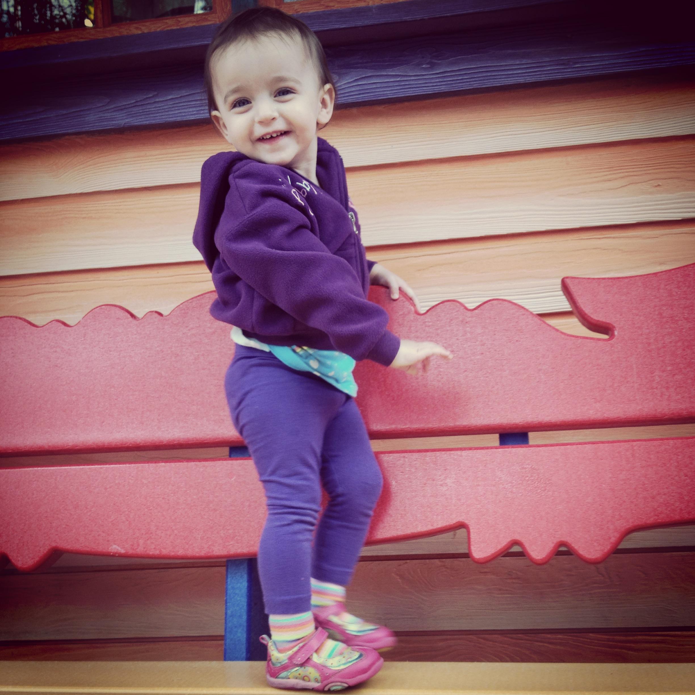 Mommy's little fashion model