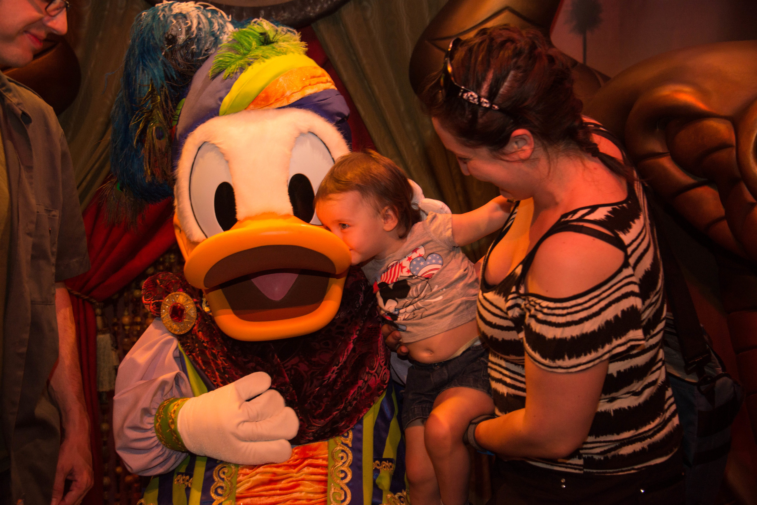 Donald must be special, he's the only one who got a Kiss