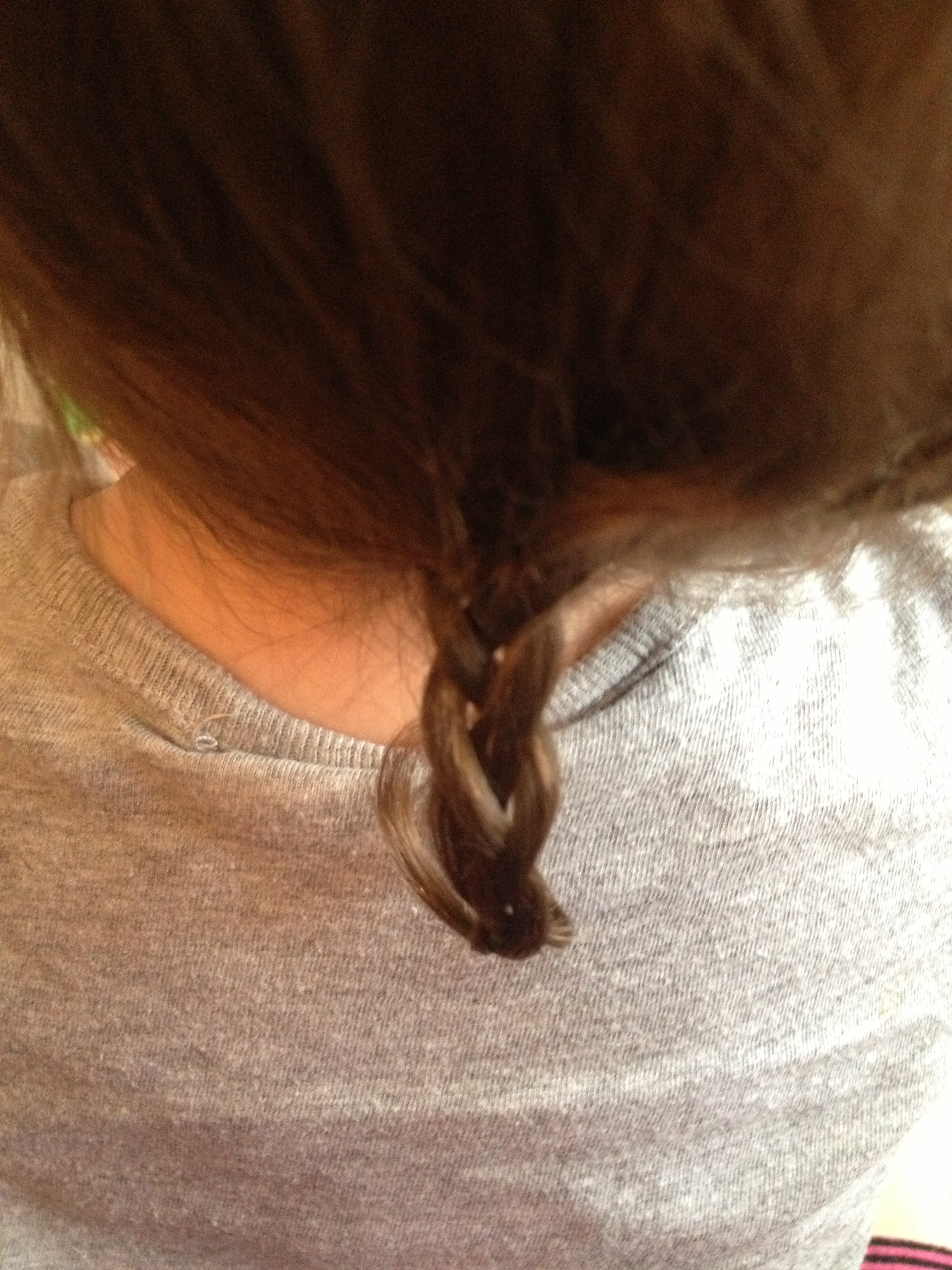 OMG A BRAID! .... and a mullet... :-/