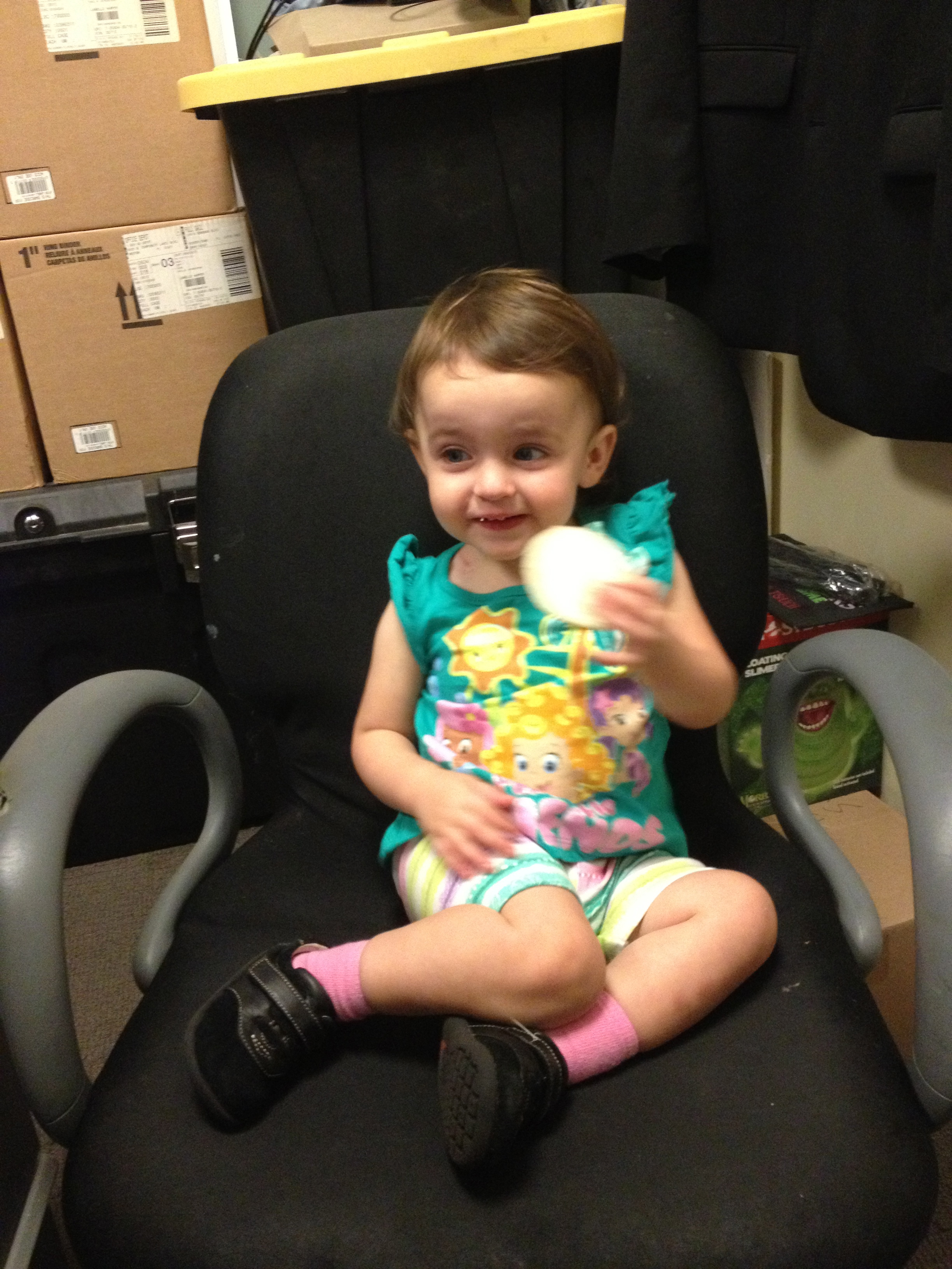 Somebody's in my office chair