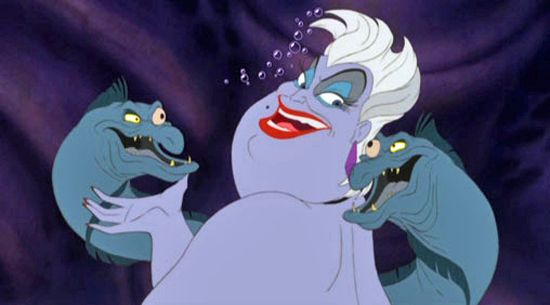 Ariel   : If I become human, I'll never be with my father or sisters again.    Ursula   : That's right. But you'll have your man. Life's full of tough choices, isn't it?