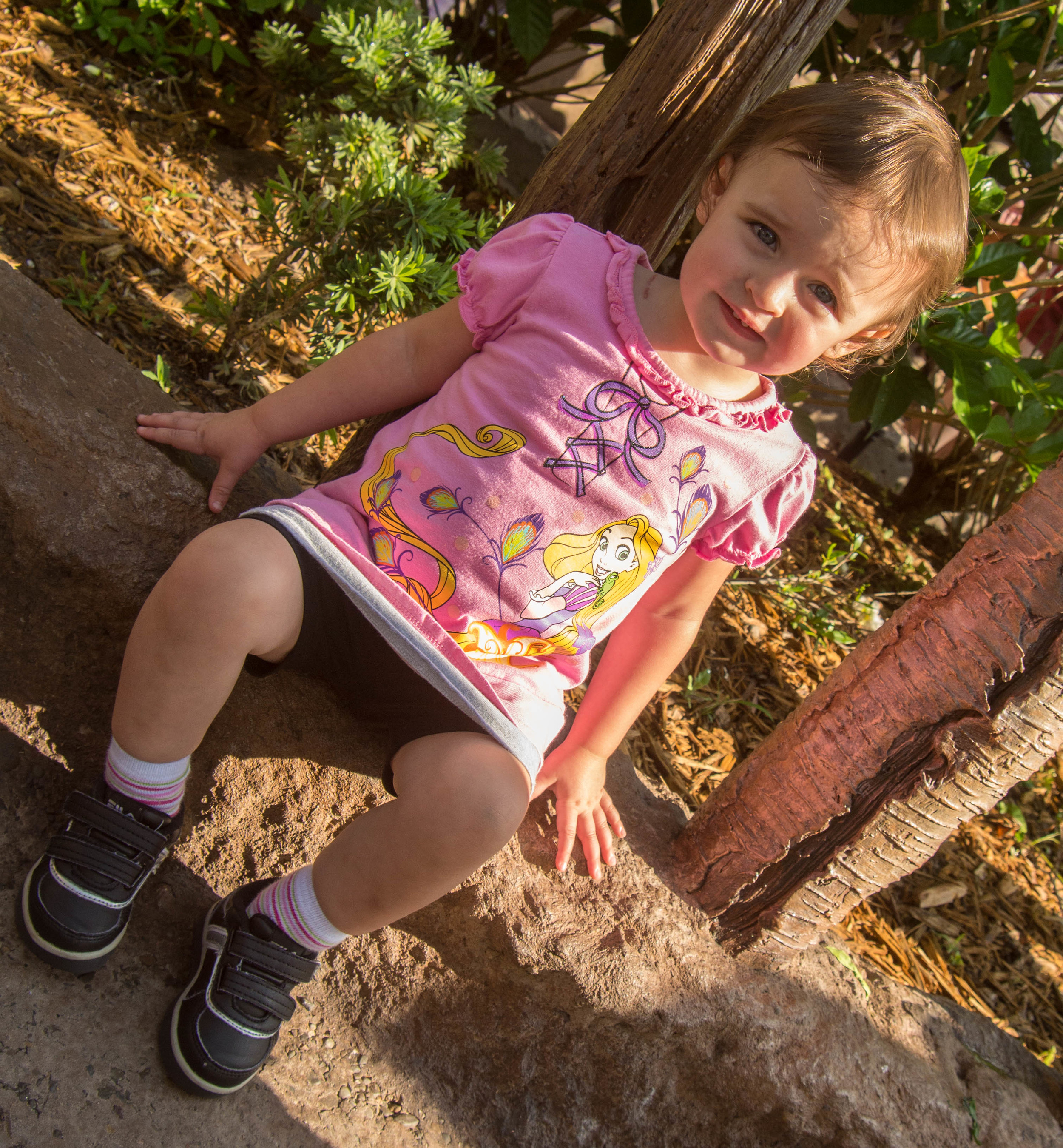 "My little princess... wearing her ""Punzahhh"" shirt"