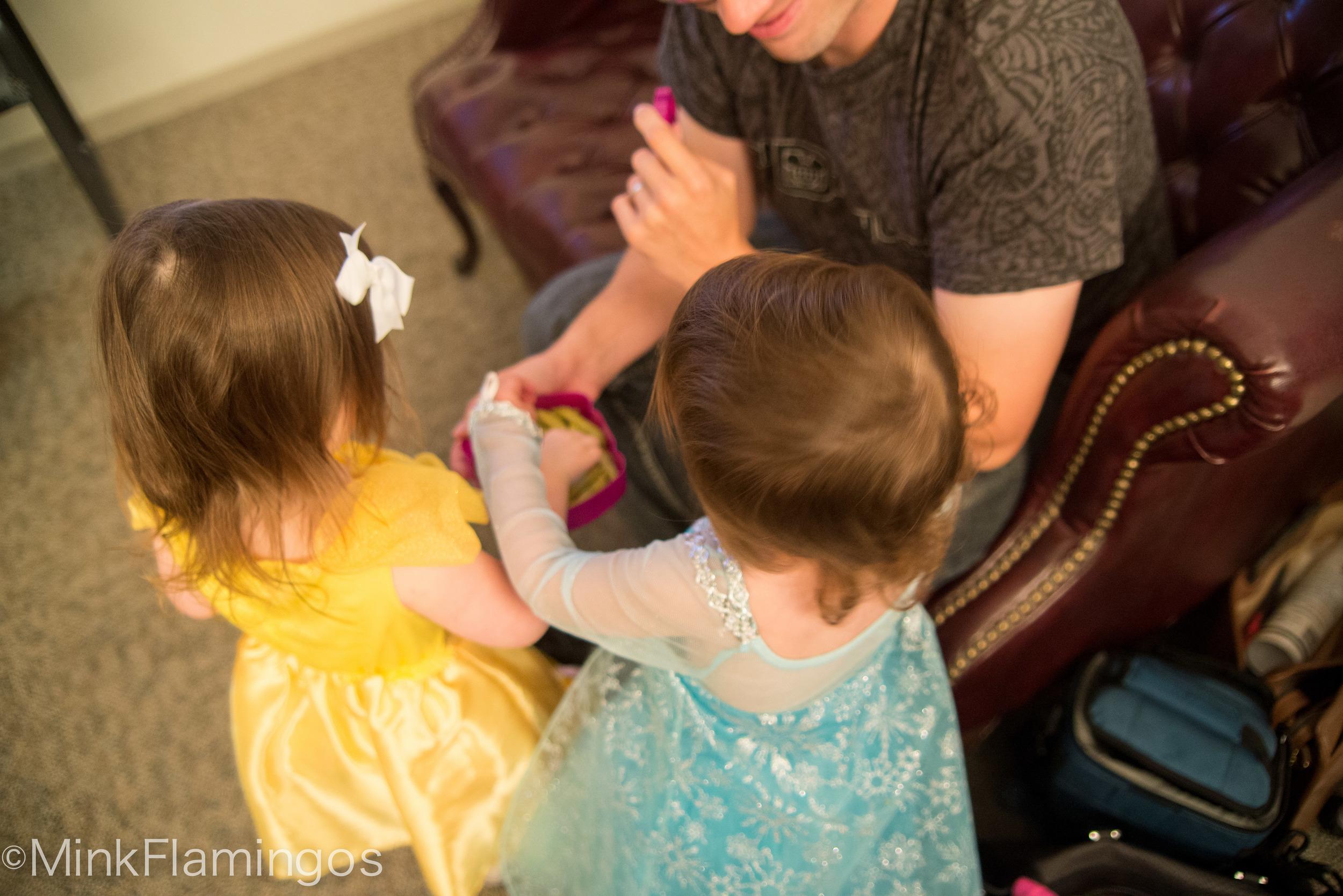 Sharing princess snacks