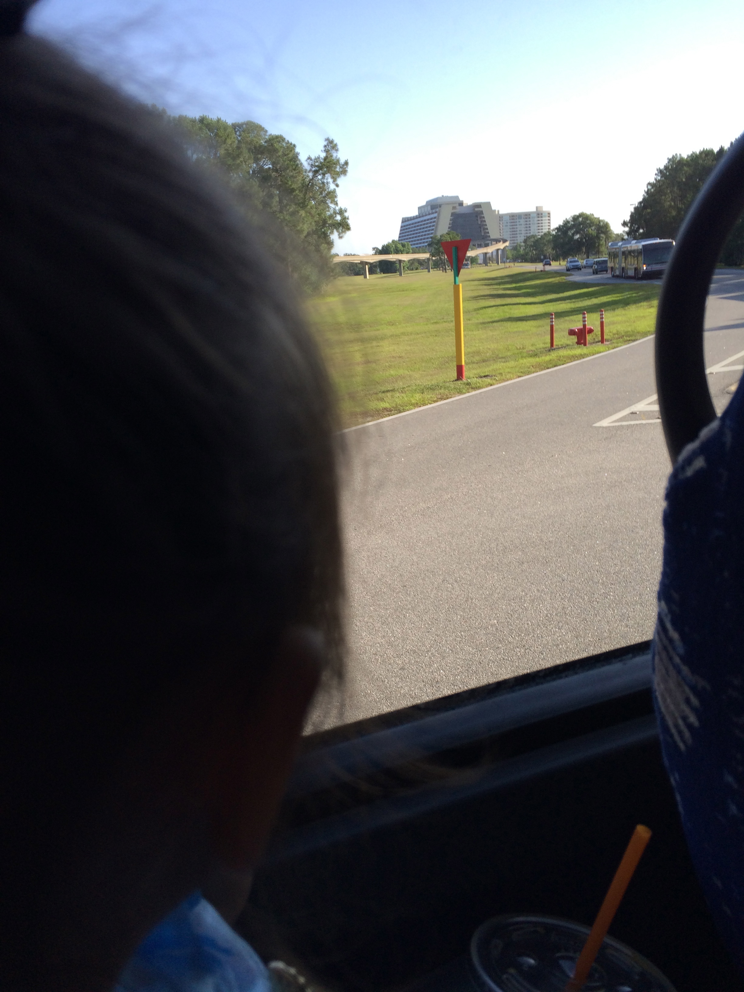 checking out the Contemporary from the bus