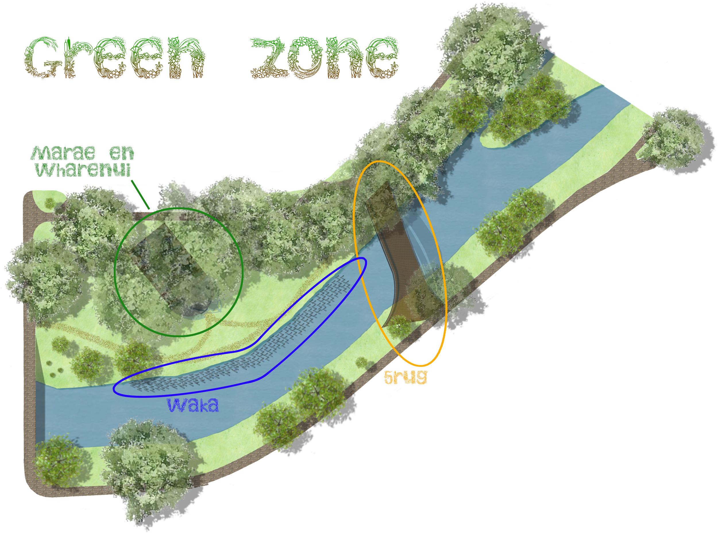 Plattegrond van de Green Zone