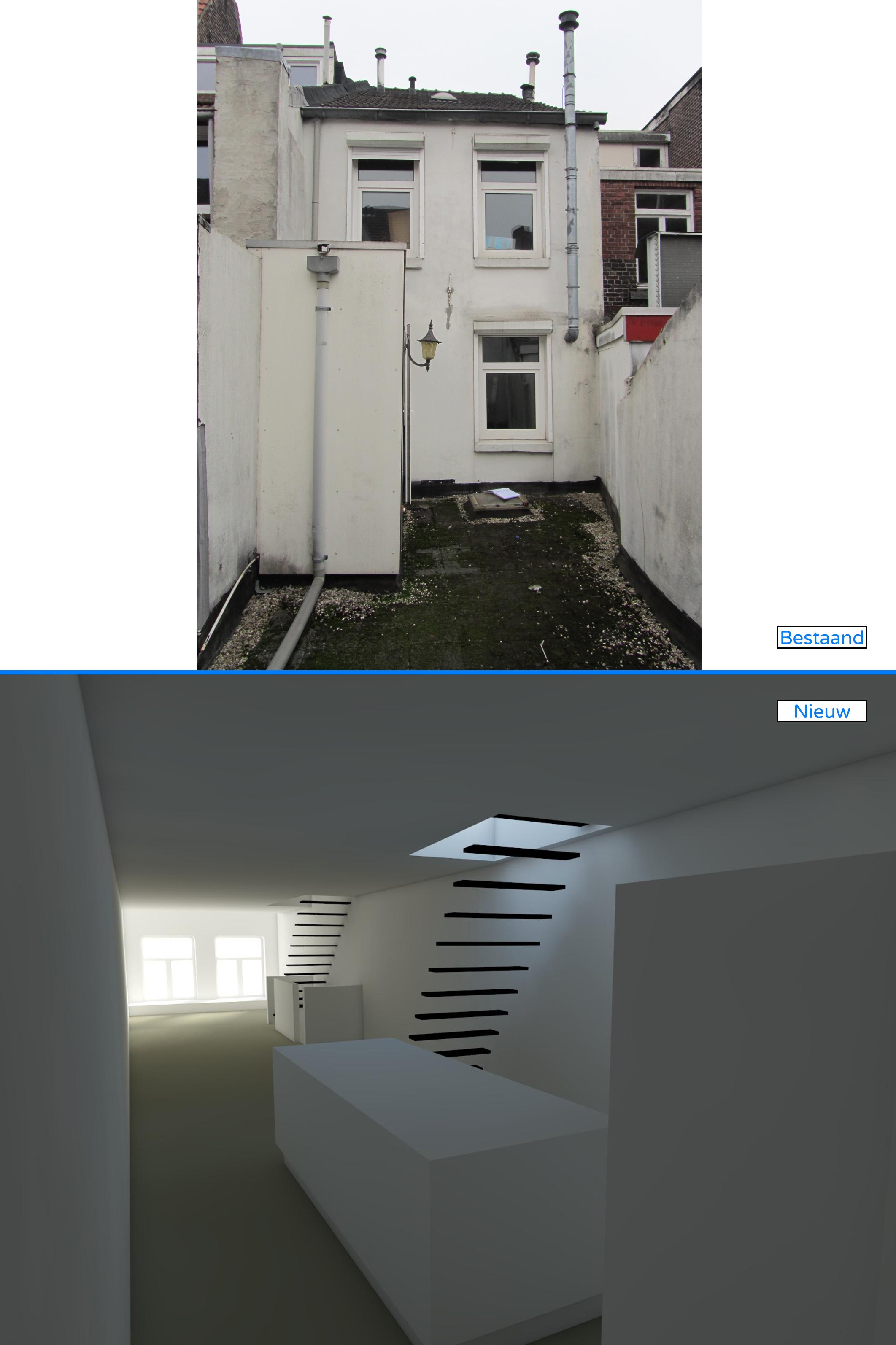 Bestaand terras, nieuwe keuken & woonkamer